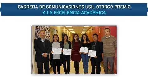 CARRERA DE COMUNICACIONES USIL OTORGÓ PREMIO A LA EXCELENCIA ACADÉMICA